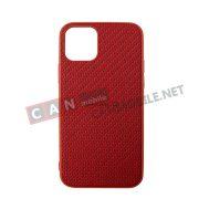 SKI11P-05, Sammato Knitting Apple iPhone 11 Pro червен