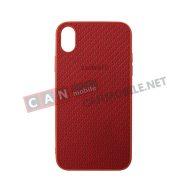 SKIXSM-05, Sammato Knitting Apple iPhone XS Max червен